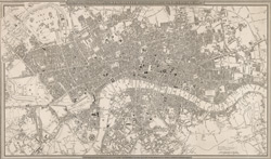 A new plan of London and Westminster, with the borough of Southwark. 1825